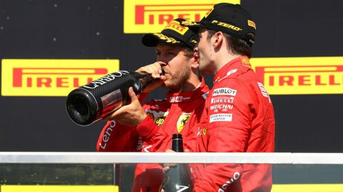 Leclerc and Vettel on the podium in Canada