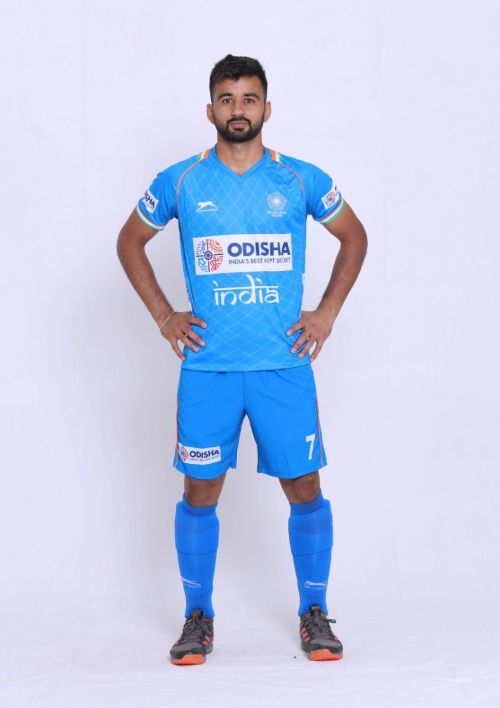 Captain Manpreet wearing the new kit