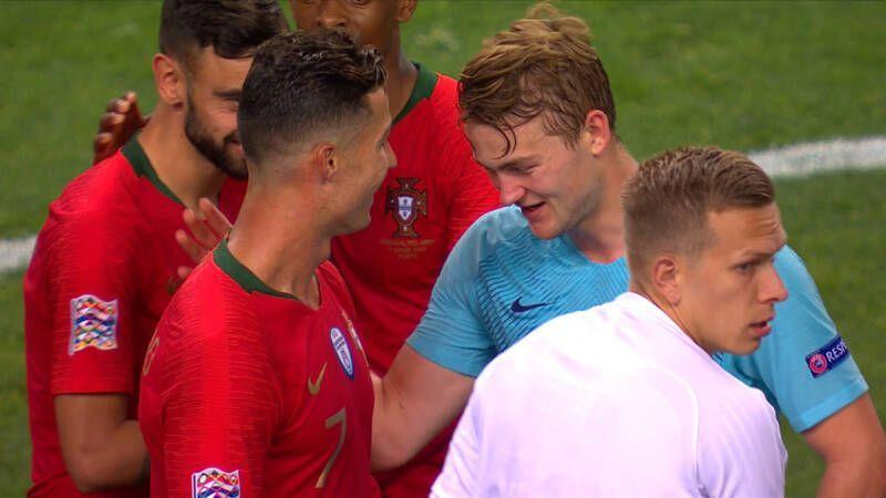 Ronaldo asked De Ligt to join Juventus