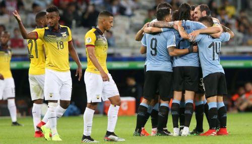Uruguay thrash 10-man Ecuador in a lopsided affair
