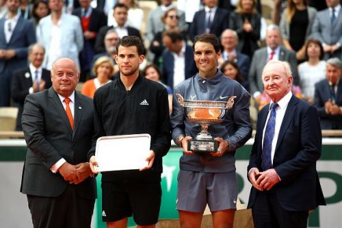 2019 French Open - Dominic Thiem(L) and Rafael Nadal