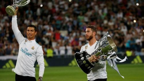 Ronaldo and Ramos have played together in Real Madrid for nine years.
