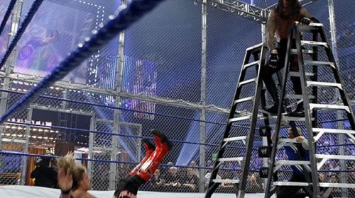 Edge wasn't seen for months after being sent through the ring and consumed by fire.