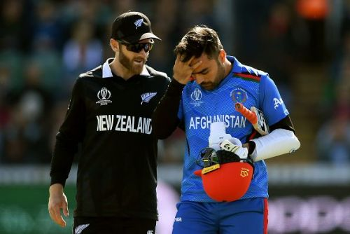 Rashid Khan was hit on the head during Afghanistan's encounter against New Zealand