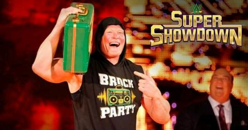 Lesnar will be present with the Money in the Bank briefcase