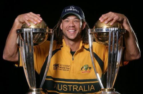 Australia won both the World Cup tournaments in which Andrew Symonds played in 2003 and 2007.