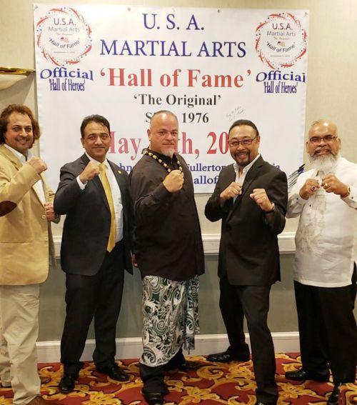 Mr. Hari Osias Banaag with Neeshu Sharma Martial Artist at Hall of Fame Award