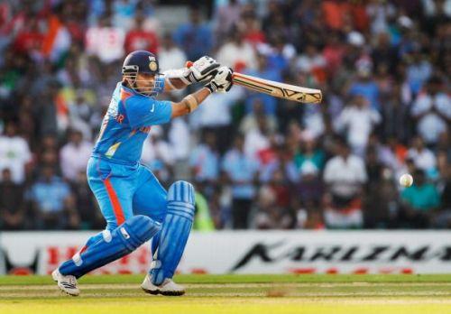 Sachin Tendulkar in action