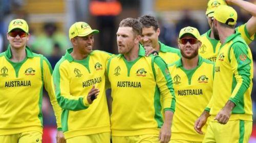 The victorious Australian team