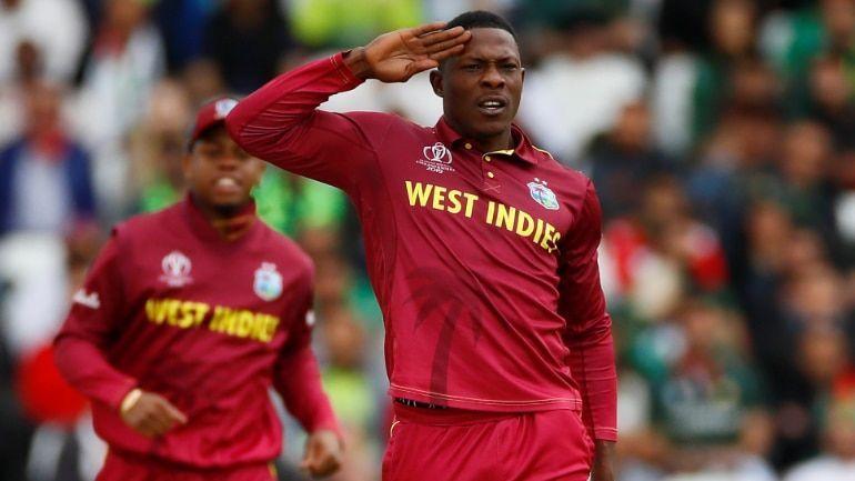 Sheldon Cottrell salute Wicket celebration from Windies Men