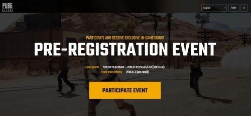 Pre-register for PUBG Lite