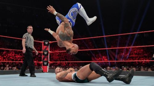 Ricochet and Cesaro delivered one of the biggest botches of the night on Raw
