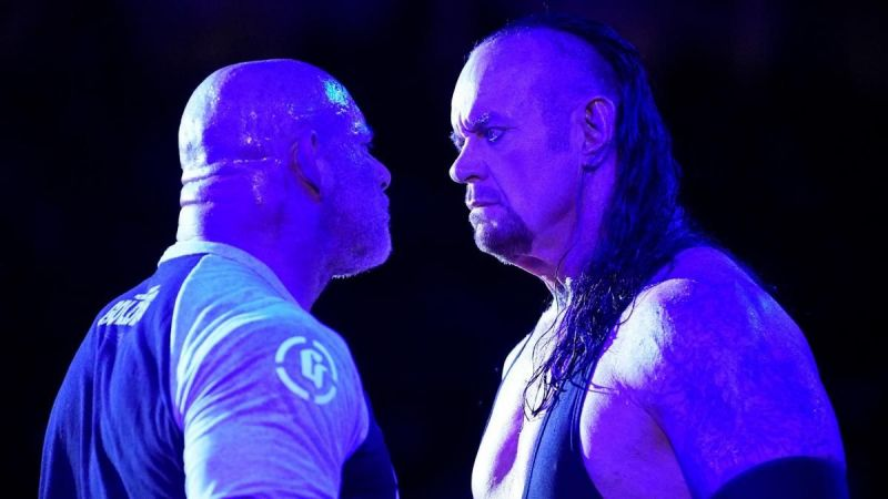The Undertaker and Goldberg on SmackDown Live this wek