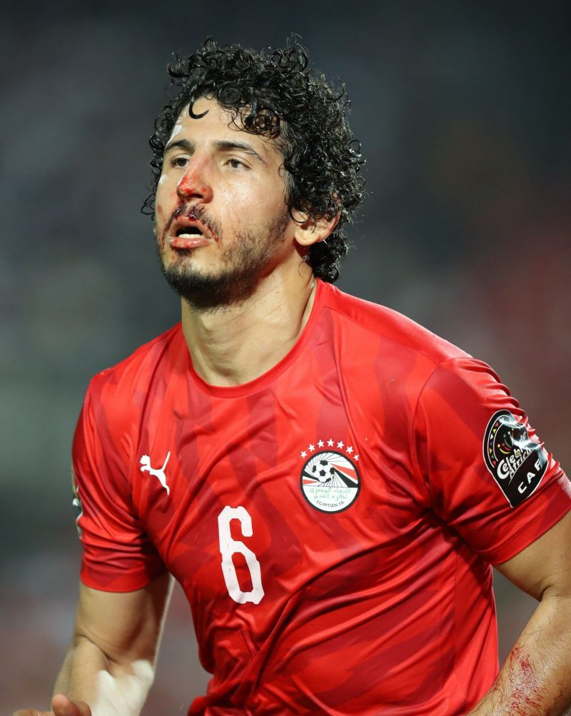 Ahmed Hegazi was a commanding presence in the central defence Egypt vs Zimbabwe
