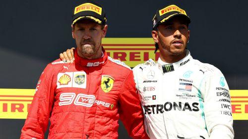 Lewis Hamilton and Sebastian Vettel after the Canadian Grand Prix