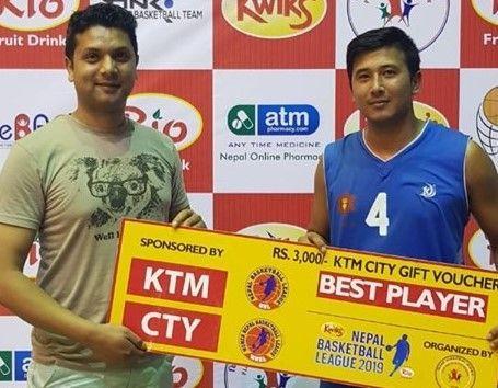 Man of the Match Aayush Singh (R) of Nepal Army Club