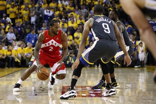 Leonard was in fantastic form for the Raptors in Game 4