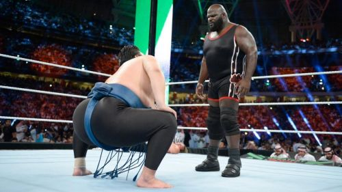 Mark Henry at Greatest Royal Rumble last year