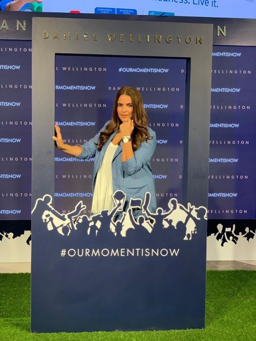 Neha Dhupia showcased the new Blue Cricket Bayswater watch at the unveiling of the new Daniel Wellington campaign in Delhi