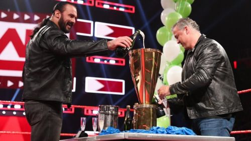 Shane McMahon celebrated his huge victory over Roman Reigns during this week's show.
