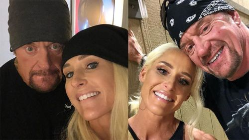 Michelle McCool with The Undertaker