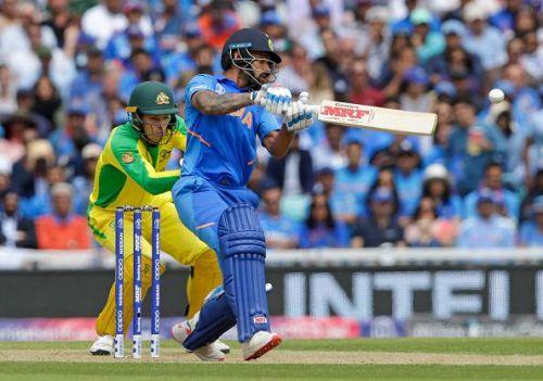 India v Australia - Shikar Dhawan in Action.