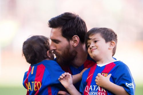 Messi with his sons