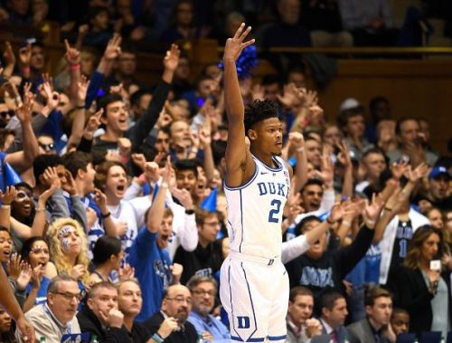 Cam Reddish from Duke comes in at #3