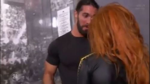 Rollins and Becky