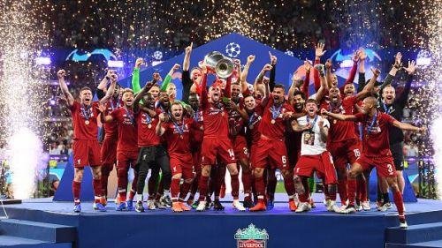 Liverpool wins the UEFA Champions League.