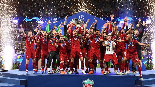 Liverpool wins the UEFA Champions League.