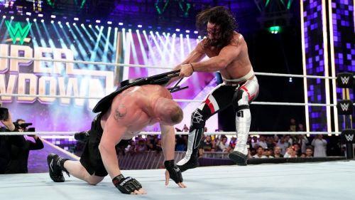 Brock Lesnar had a tough night out