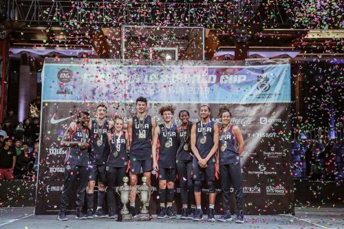 USA won the gold on both men's and women's category of the FIBA 3x3 U18 World Cup