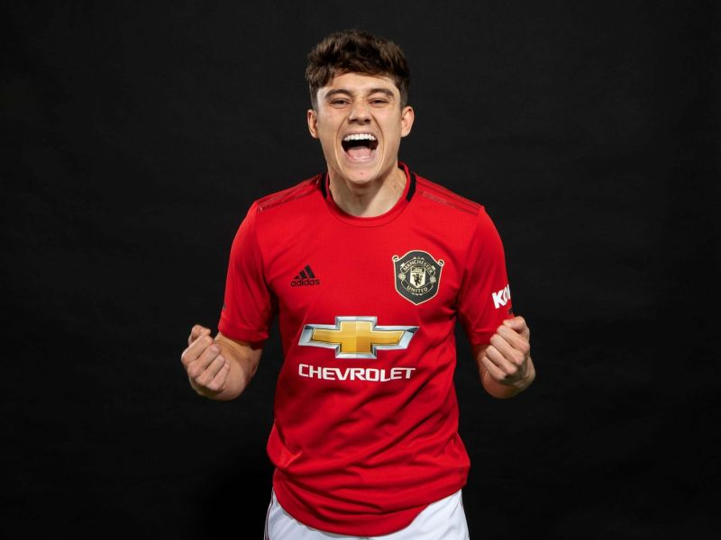 Daniel James was unveiled as a Manchester United player on June 12