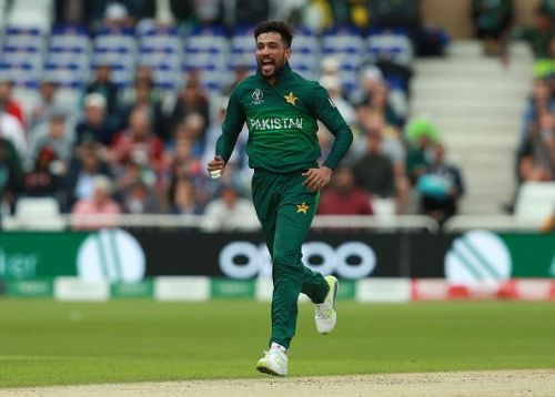 Mohammad Amir was Pakistan sole positive against the Caribbeans.
