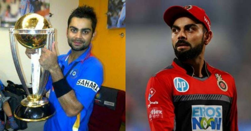 Virat Kohli won the ICC World Cup in 2011 but he has never won the IPL trophy while playing for Royal Challengers Bangalore