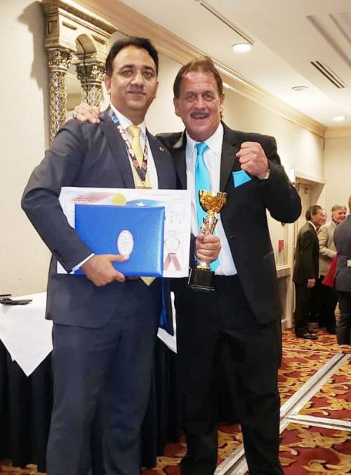 Shammi Rana with Dr Jim Thomas, Thomas International Council of Higher Martial Arts Education