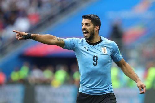 Luis Suarez will spearhead the attacking line of La Celeste