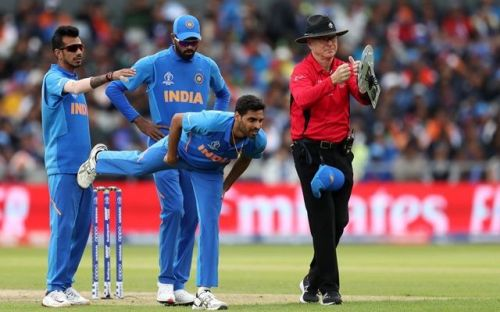 Bhuvneshwar Kumar's injury looked to be a problem for India, until his replacement Vijay Shankar picked up a wicket first ball.