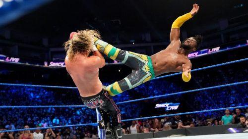 Kofi Kingston in action on SmackDown Live