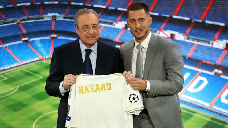 Florentino Perez and Eden Hazard