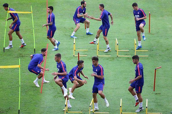 Paris Saint Germain v Club Atletico de Madrid Pre-Match day Activity