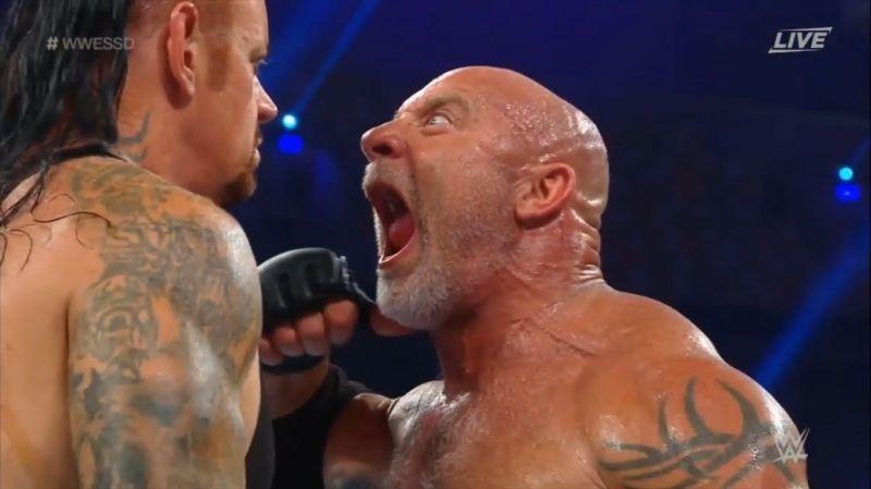 Goldberg mocking The Undertaker