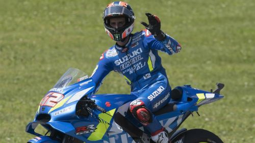 Alex Rins after finishing fourth at the Italian Grand Prix