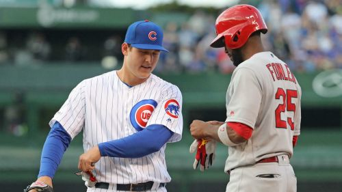 Anthony Rizzo, left, and Dexter Fowler