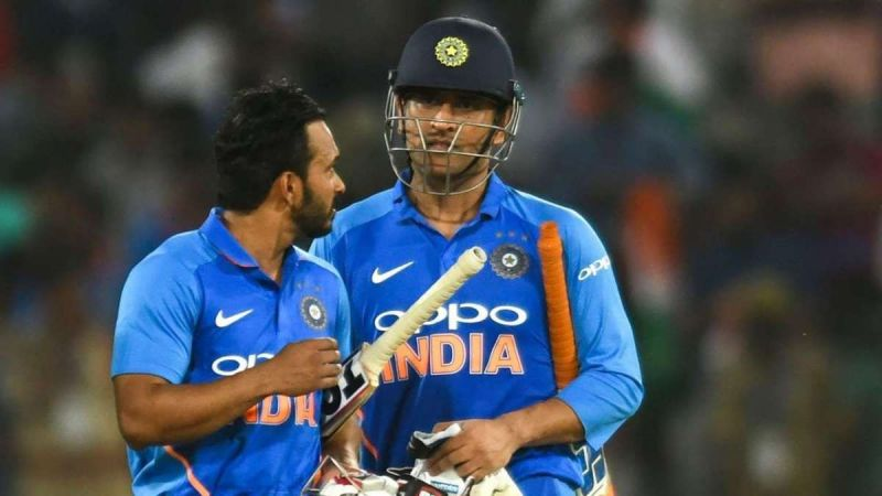 India should try to plot MS Dhoni at number four