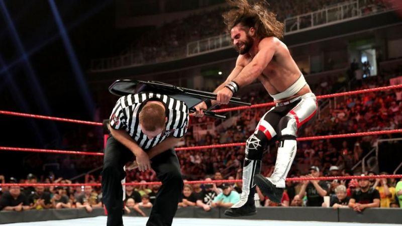 Sami Zayn felt the wrath of Seth Rollins during last night