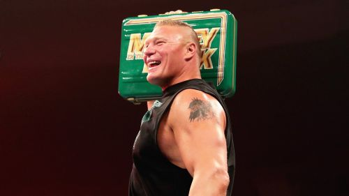 Brock Lesnar has been chasing Seth Rollins, but what if he winds up using Money in the Bank against a different champion?