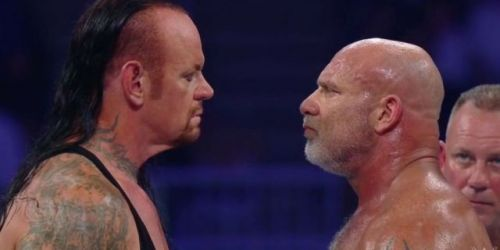 Why did things get heated between Goldberg and The Undertaker?