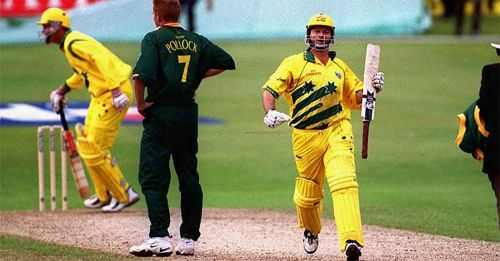 Steve Waugh's second ODI hundred was played under extreme pressure